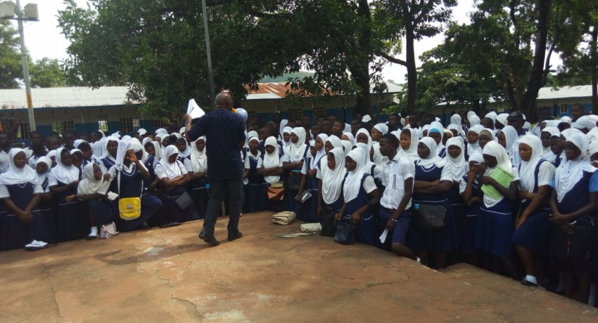 Schools and Police Sensitisation - Kenema and Bo