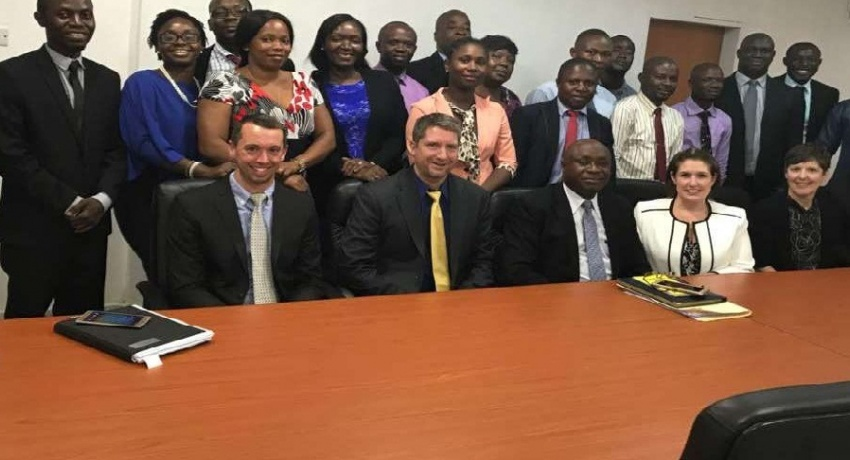 Office of Technical Assistance (OTA), United States Department of the Treasury Team visits FIU Sierra Leone