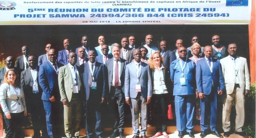 GIABA-EU JOINT PROJECT: Strengthening Anti-Money Laundering Capacities in West Africa  SAMWA Fifth Steering Committee Meeting In  Royal Horizon Baobab Hotel Somone, Senegal